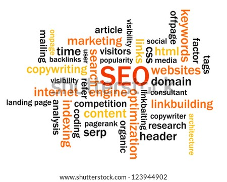 Search Engine Optimization Abstract Image - stock vector