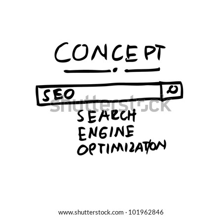 search engine optimization concept - stock vector