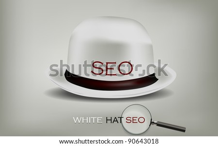 Search Engine Optimization for web SEO White Hat - stock vector