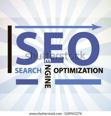 Search engine optimization original concept label modern concept badge - stock vector