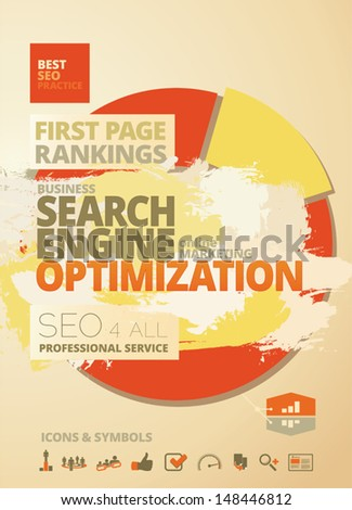 Search Engine Optimization - SEO - Rankings Concept Design  - stock vector