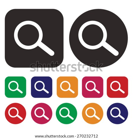 Search. Find. Magnify icon - stock vector