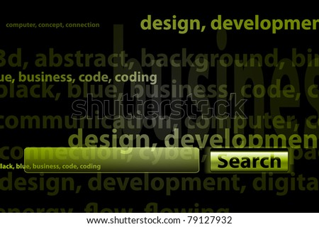 Search for keywords - stock vector