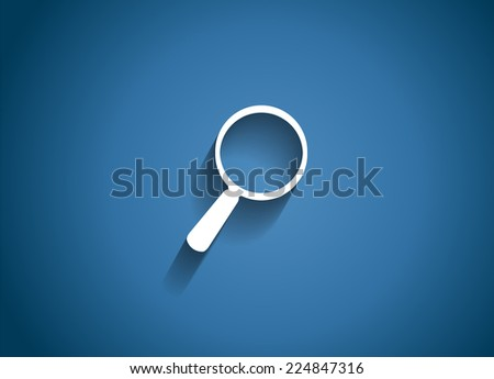 Search  Glossy Icon Vector Illustration EPS10 - stock vector