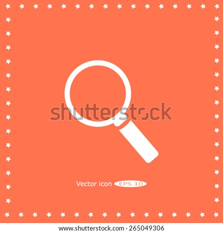 Search icon - stock vector