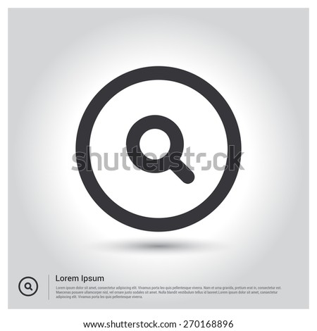 search icon Vector illustration for web site, mobile application. Simple flat metro design style. Outline Icon. Flat design style - stock vector