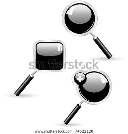 Search icon. Vector set. - stock vector