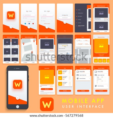 Search mobile apps material design ui stock vector for Design your home app