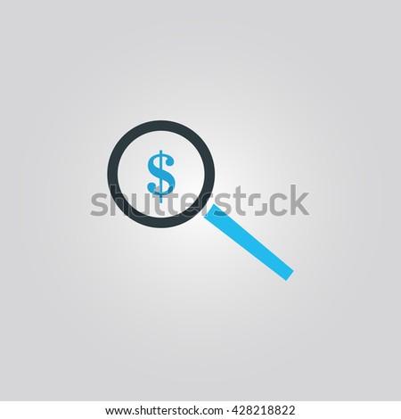 search money icon. search money sign. search money vector - stock vector