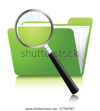 search of data - stock vector