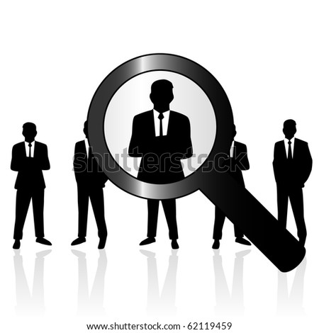 Search people - stock vector