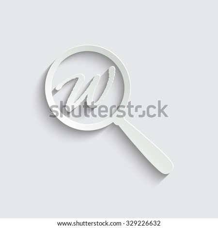 Search - vector icon - stock vector