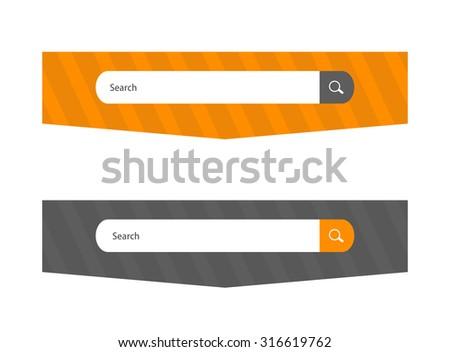 Search web form for website, element of interface - stock vector