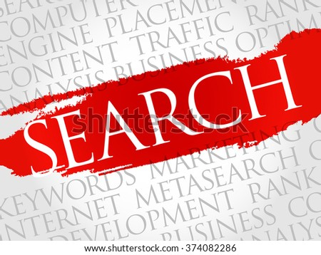 SEARCH word cloud, business concept - stock vector