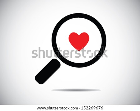 Searching A Love - stock vector