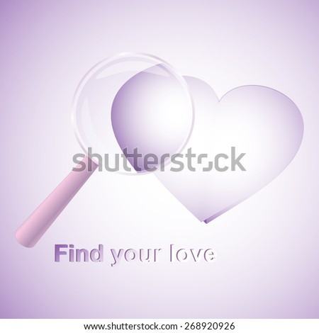 Searching for love - stock vector