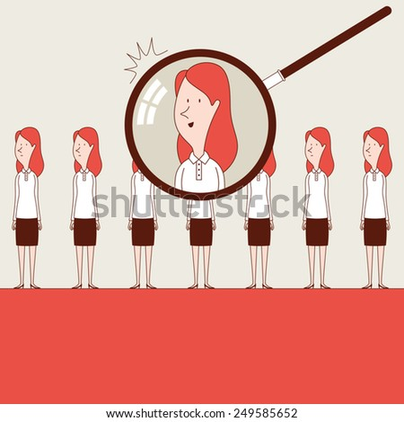 Searching the best - stock vector