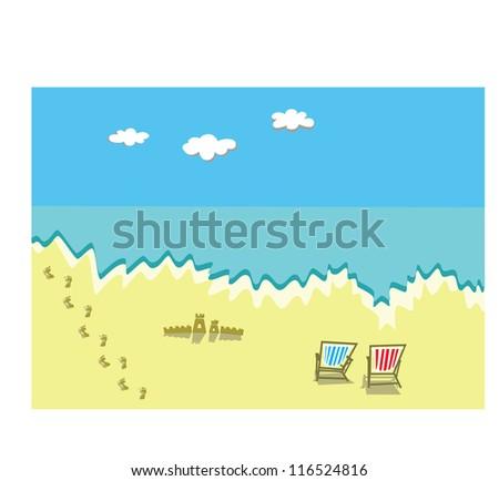 Seaside - stock vector