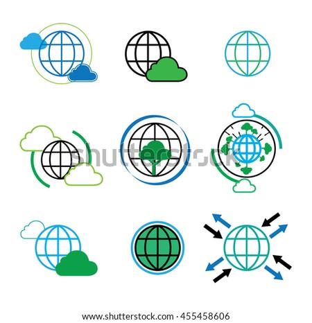 season green house effect icon - stock vector