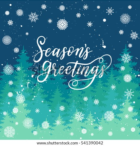 Seasons greetings card new year 2017 stock vector 541390042 seasons greetings card for new year 2017 vector winter holiday background with hand lettering calligraphy m4hsunfo