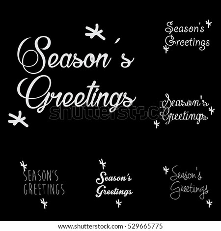 Seasons Greetings Typography Design Template Stock Vector HD ...