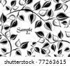 seasonal background with branches and leaves - stock vector