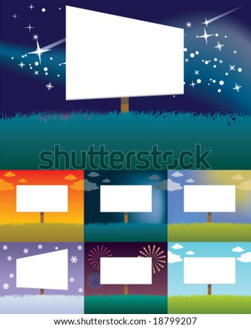Seasonal Billboard Designs - stock vector