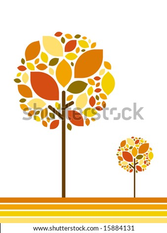seasonal tree autumn - stock vector