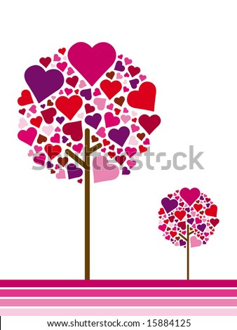 seasonal tree spring - stock vector