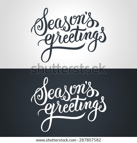 Seasons greetings hand lettering handmade vector stock vector seasons greetings hand lettering handmade vector calligraphy m4hsunfo