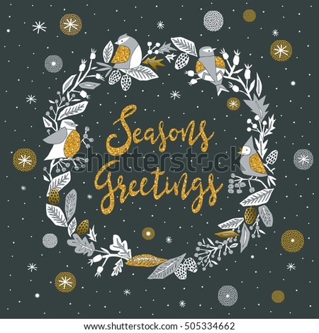 Seasons Greetings. Print Design