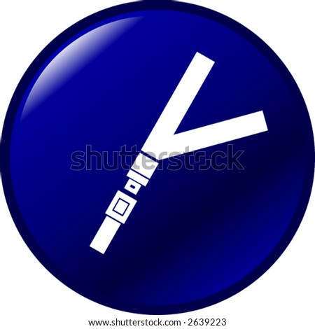 seat belt button - stock vector