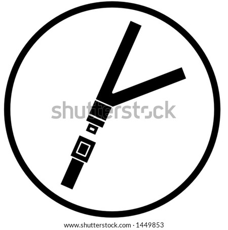 seat belt symbol - stock vector