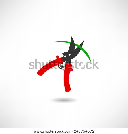 Secateurs icon - stock vector