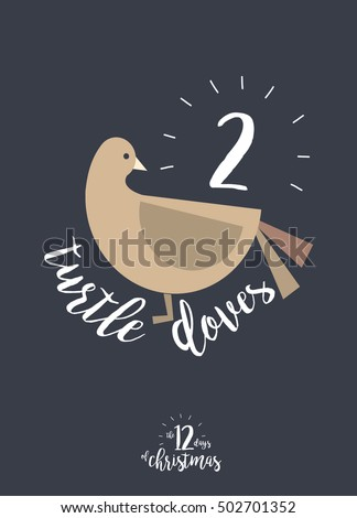 Two turtle doves stock images royalty free images vectors second day of christmas of the twelve days of christmas template vectorillustration pronofoot35fo Image collections