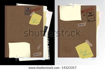 Secret folder. Vector. - stock vector