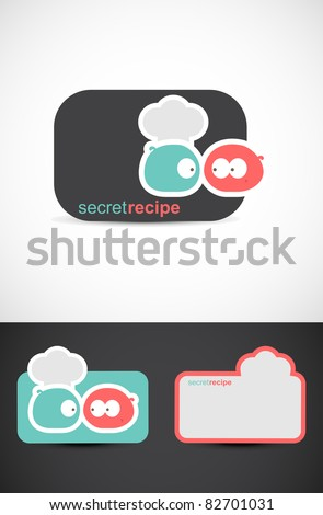 Secret recipe logo, EPS10 vector.