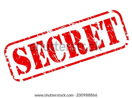 Secret red stamp text on white - stock vector