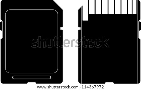 Secure Digital Sd Card Symbols Stock Vector Royalty Free 114367972