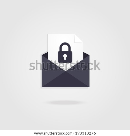 Secure Mail icon. - stock vector