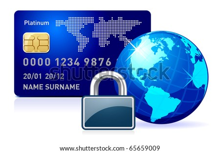 secure online payment. - stock vector