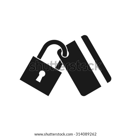 Secure payment. Credit card protection vector icon - stock vector