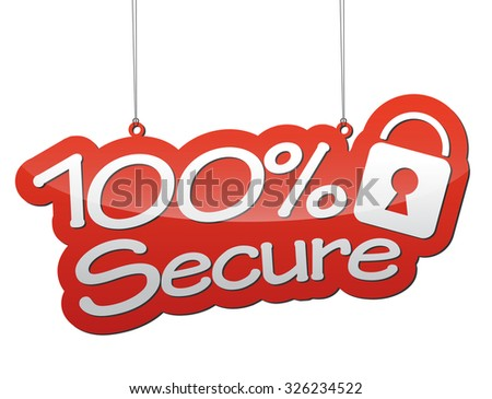 secure, red vector secure, red tag secure, element secure, sign secure, design secure, background secure illustration secure, picture secure, secure eps10 - stock vector