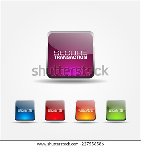 Secure Transaction Colorful Vector Icon Design
