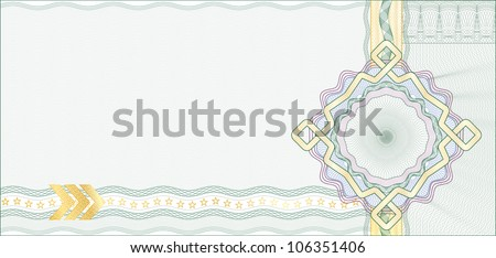 Secured Guilloche Background for Gift Certificate, Coupon or Banknote / elements are in layers for easy editing - stock vector