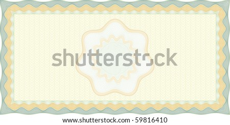 Secured Guilloche check background, elements are in layers for easy editing - stock vector