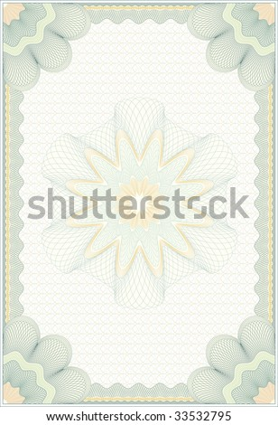 """Secured """"Guilloche"""" diploma background, elements are in layers for easy editing - stock vector"""