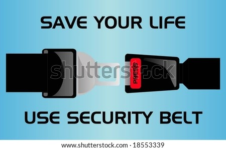 security belt - stock vector