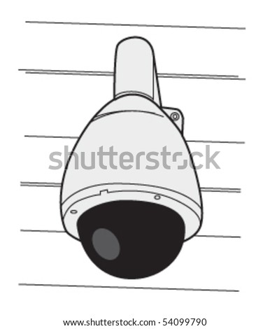security camera dome 1 - stock vector