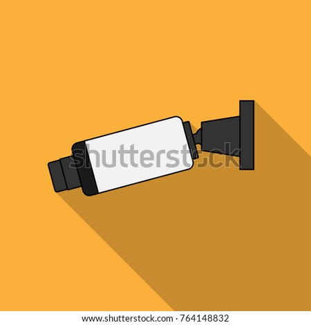 Security camera flat icon vector design.
